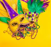 picture of mardi gras mask  - A venetian - JPG