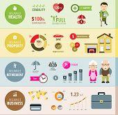 image of retired  - Insurance Infographic - JPG