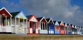 pic of beach hut  - Brightly Coloured beach huts at Southwold - JPG