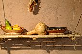 foto of pima  - Traditional southwest American Indian foods squash corn and beans - JPG