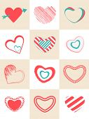 picture of corazon  - Collection of different hearts shape for Happy Valentines Day celebration - JPG