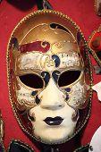 pic of venetian carnival  - Closeup of a typical venetian carnival mask - JPG