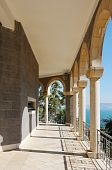 foto of beatitudes  - Church on the Mount of Beatitudes near Lake Kinneret  - JPG