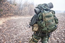 image of raid  - Jagdkommando soldier Austrian special forces equipped with Steyr assault rifle during the raid  - JPG