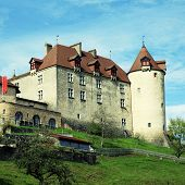 picture of chateau  - Chateau de Gruyeres  - JPG