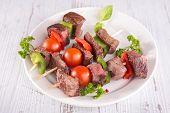 picture of kebab  - beef kebab - JPG
