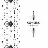 foto of aztec  - Vector Geometric background - JPG