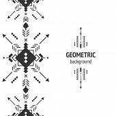 image of aztec  - Vector Geometric background - JPG