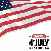 stock photo of happy day  - Happy independence day United States of America 4th of July - JPG