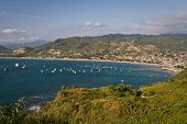 foto of tourist-spot  - Beautiful high angle view during sunset of Puerto Lopez - JPG