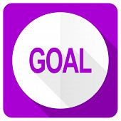 picture of goal setting  - goal pink flat icon  - JPG