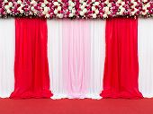 pic of stage decoration  - wedding stage decoration for take picture - JPG