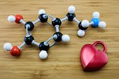 picture of neurotransmitter  - Dopamine is known as love and happiness hormone  - JPG