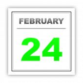 stock photo of february  - February 24 - JPG