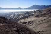 stock photo of bromo  - Bromo volcanoTengger Semeru National Park East Java Indonesia - JPG