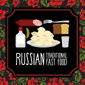 image of vodka  - Russian traditional fast food - JPG