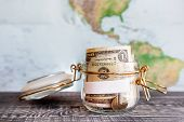 picture of money  - Collecting money for travel - JPG