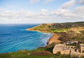 picture of gozo  - Seacoast on small island Gozo - JPG