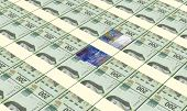 pic of pesos  - Swiss franc with mexican pesos bills stacks background - JPG