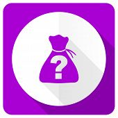 stock photo of riddles  - riddle pink flat icon   - JPG