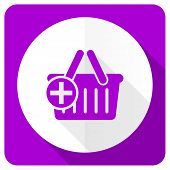 image of cart  - cart pink flat icon shopping cart symbol  - JPG