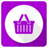 foto of cart  - cart pink flat icon shopping cart symbol  - JPG