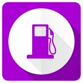 picture of petrol  - petrol pink flat icon gas station sign  - JPG