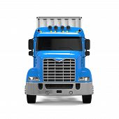 picture of delivery-truck  - Cargo Delivery Truck isolated on white background - JPG