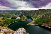 """pic of serbia  - Wonderful canyon with the curving river. Special Reserve of Nature """"canyon Uvac"""", Serbia ** Note: Visible grain at 100%, best at smaller sizes - JPG"""