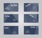 picture of visitation  - Set of six gray geometric visit cards - JPG