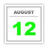 image of august calendar  - August 12 - JPG