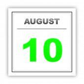image of august calendar  - August 10 - JPG