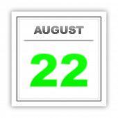foto of august calendar  - August 22 - JPG