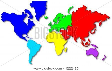 Cartoon world map poster id1222425 cartoon style world map showing the continents jgp from a vector graphic poster id 1222425 gumiabroncs Image collections