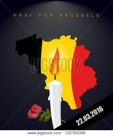 Pray For Brussels Map Of