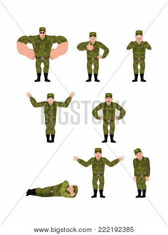 Russian Soldier Set Poses And