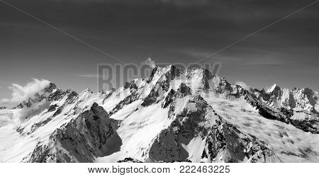 Panorama Of Snow Covered Mountains
