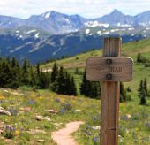Wooden Trail Sign