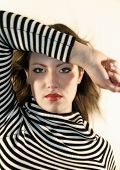 picture of gare  - young girl with stripes - JPG