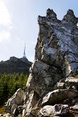 Jested Telecommunication Transmitter Tower On Jested Mountain, Liberec, Czech Republic poster