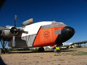 """foto of boxcar  - Fairchild C-119 """"flying boxcar."""" These planes were used extensively in the Vietnam War both cargo and troop transport. Paratroopers liked the clamshell doors in the rear. This plane has a jet assist for use as an areal fire fighting tanker.   ** Note:  - JPG"""