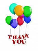 stock photo of thank-you  - Image of balloon with Thank You words - JPG