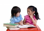 foto of girl reading book  - Going to school is your future - JPG