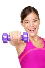 image of weight-lifting  - fitness woman - JPG