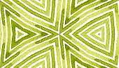 Green Geometric Watercolor. Delicate Seamless Pattern. Hand Drawn Stripes. Brush Texture. Captivatin poster