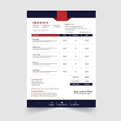 Minimal Business Invoice Template Vector Design poster
