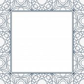Linear Geometry Background With The Square Frame For A Text. Vector Geometric Linear Design poster