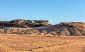 Rock Formation Vogelfederberg In Namib Desert, Sunset Scene, Landscape, Namibia, Africa Wilderness poster