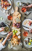 Seasonal Picnic With Rose Wine, Cheese, Charcuterie And Appetizers poster