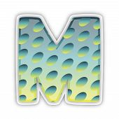 M Letter Icon Symbol Typeface Character Letter, Business, Design, Lettering, Modern, Sign, Symbol, T poster